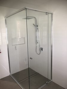 Plumbink Sunshine Coast Drainage, plumber Gas Fitter Shower and bathroom renovation Golden Beach New Home plumbing fit out Double Shower Rail in new home